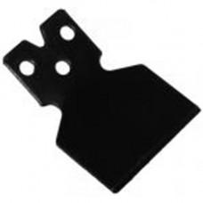 Нож (отсекатель) лески защитного кожуха китайских бензокос 26-52 сс (широкий, под три самореза, тип 1)